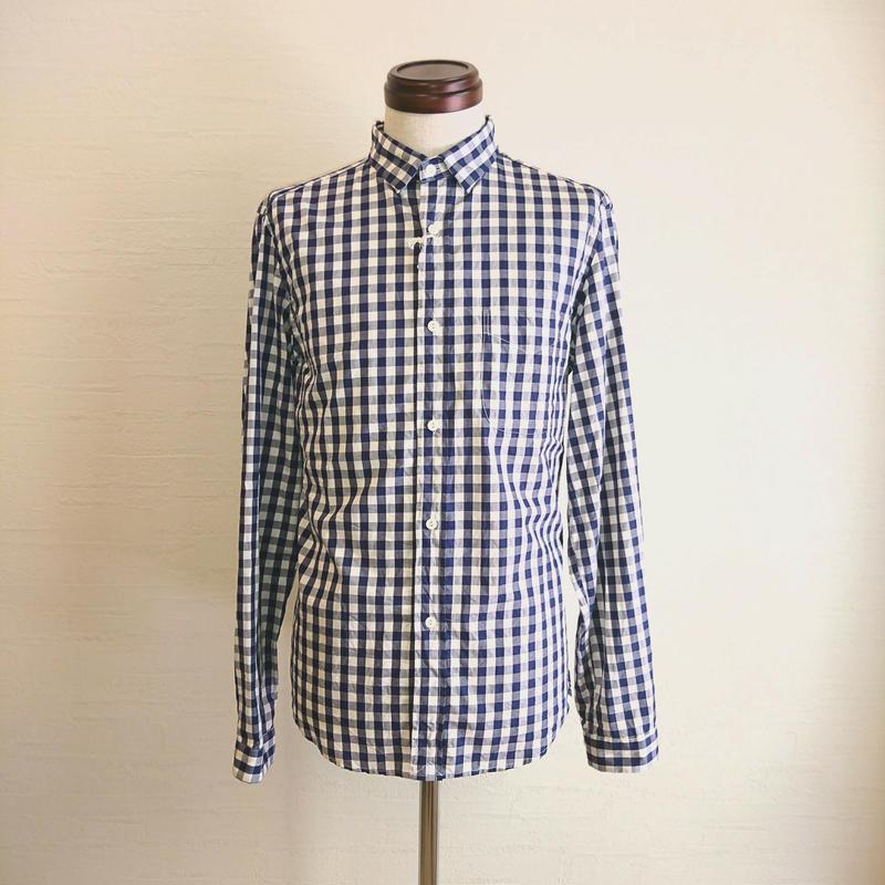 【Tieasy +PLUS/ティージー プラス】ボタンダウンシャツ ギンガムチェック