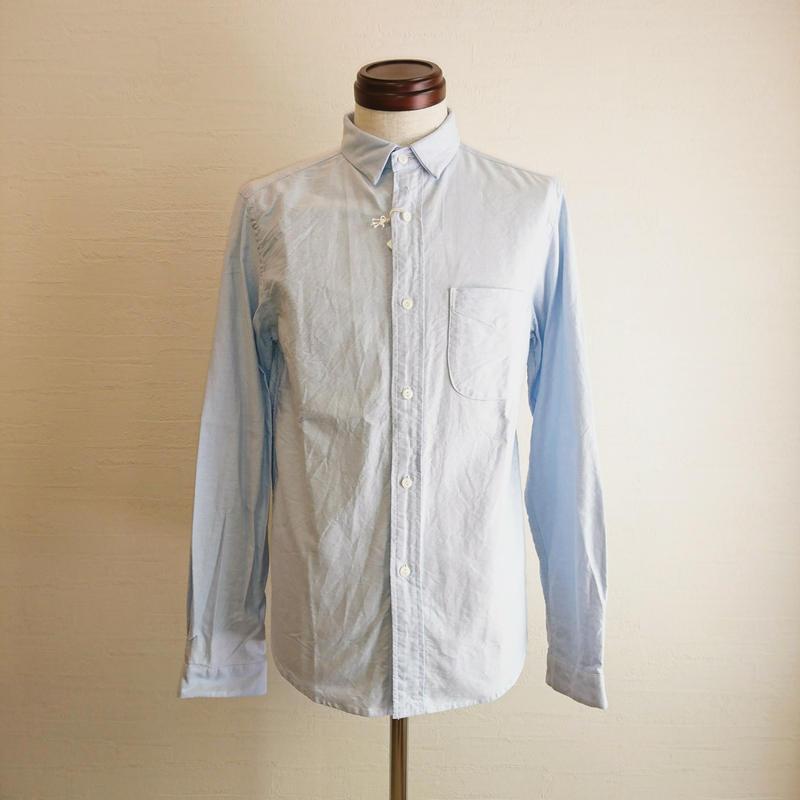 【Tieasy +PLUS/ティージー プラス】ボタンダウンシャツ ライトブルー
