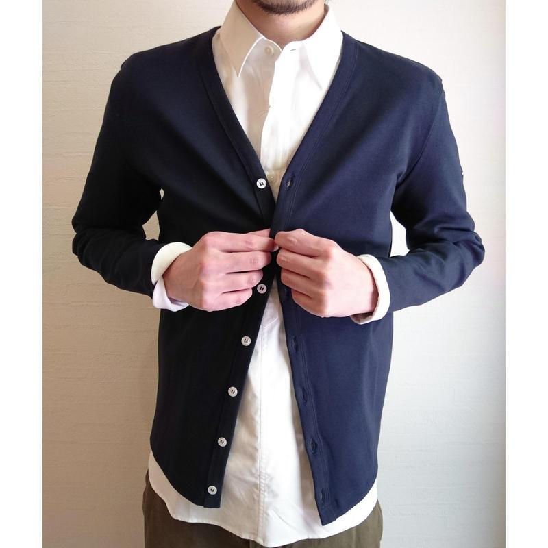 【SAINT JAMES/セントジェームス】Cotton Cardigan  コットンカーディガン ネイビー