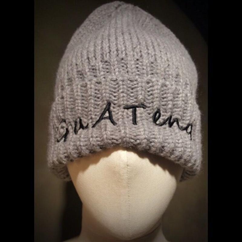 guateng  KNIT CAP gray