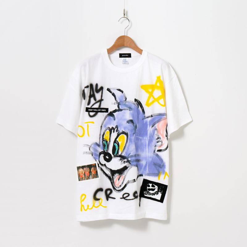 Hand Painted T-sh / White / No.26