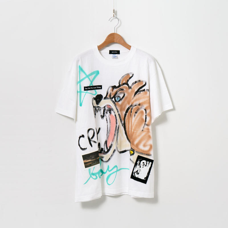 Hand Painted T-sh / White / No.16