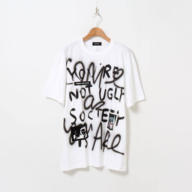 Hand Painted T-sh / White / No.28