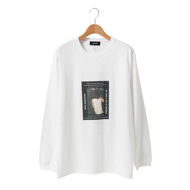 Photo Print LS T-shirt / White