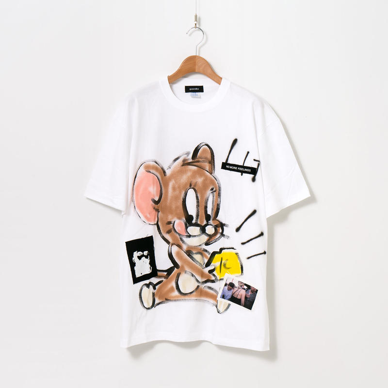 Hand Painted T-sh / White / No.24