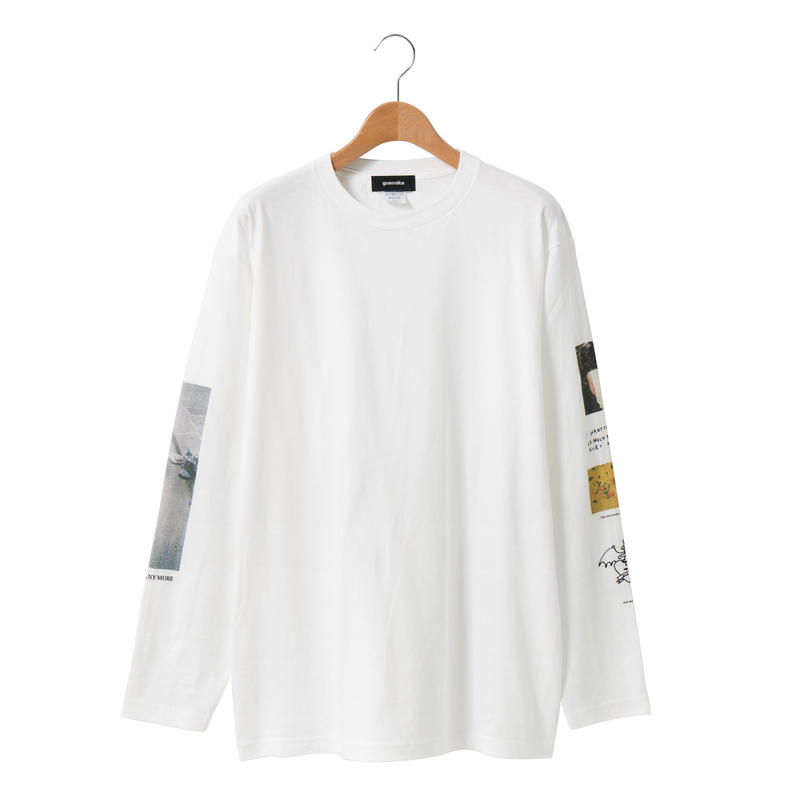 Sleeve Print LS T-shirt / White