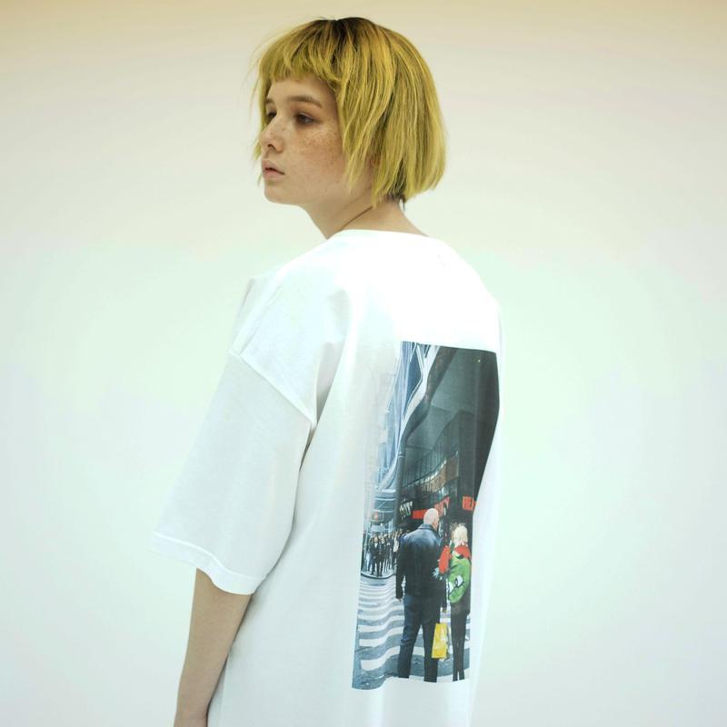 Photo Print Super SizeT-shirt / White