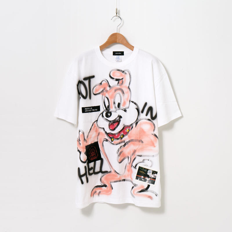 Hand Painted T-sh / White / No.25