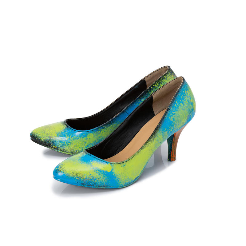 Hand Painted Pumps / 37 / No.3
