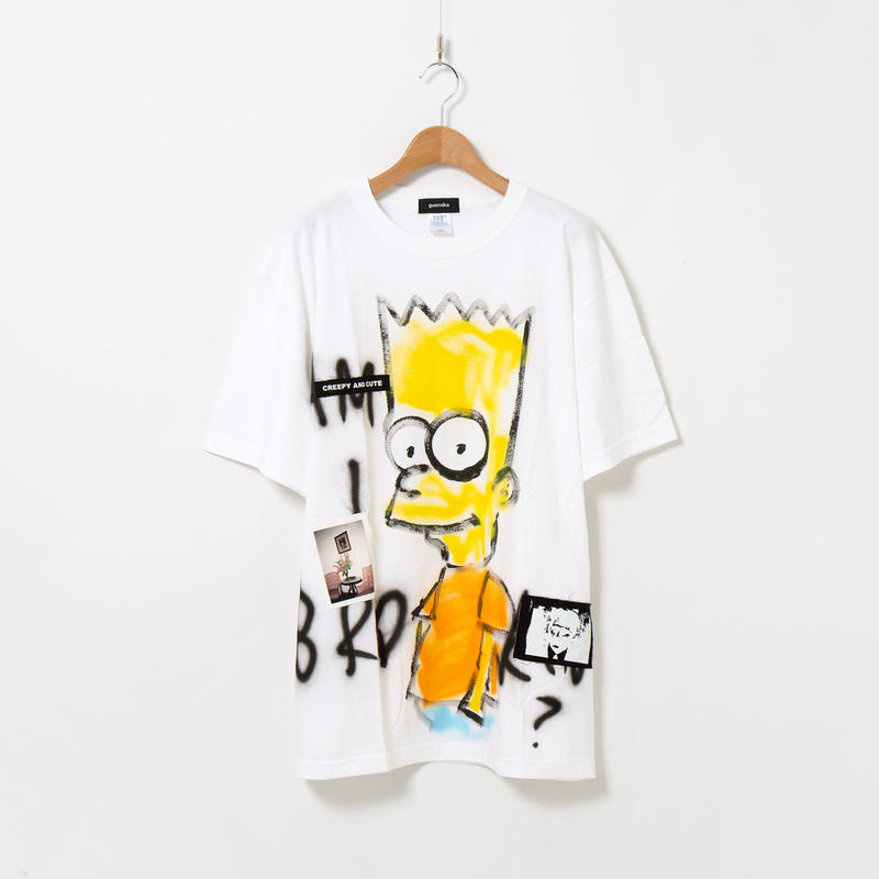 Hand Painted T-sh / White / No.30