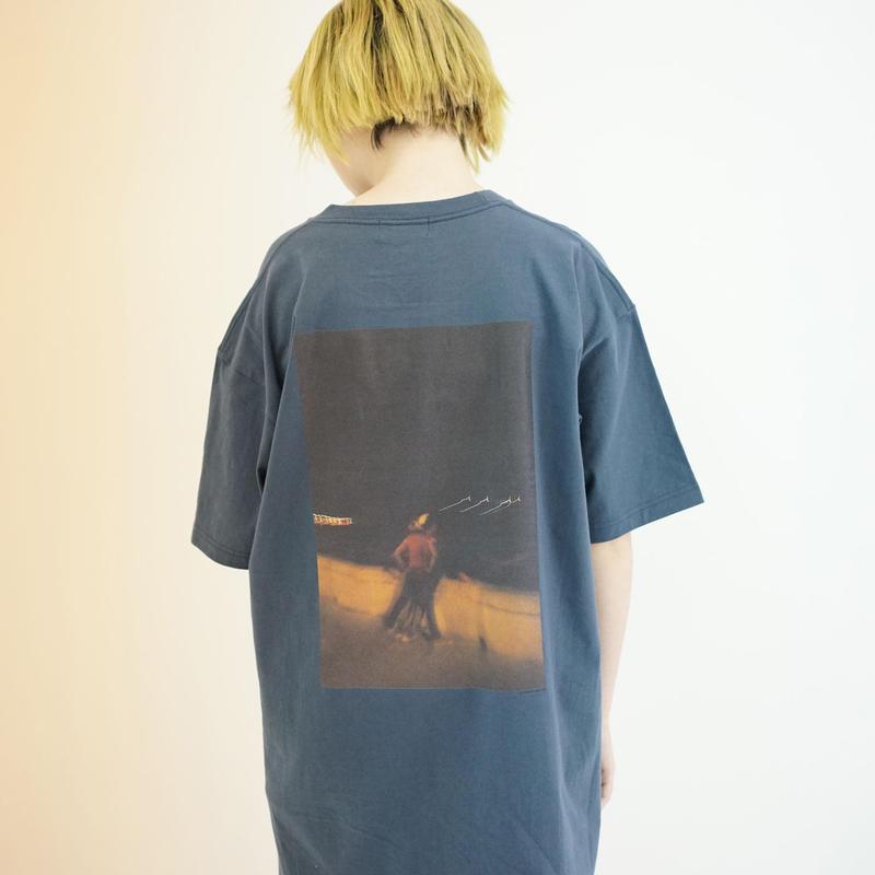 Photo Print Super SizeT-shirt / BLU