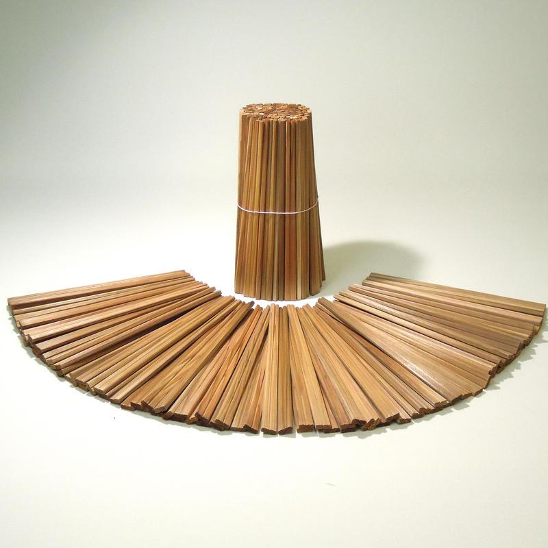 郡上割り箸 元禄箸21cm(茶)1000膳(1膳5円)100膳×10束