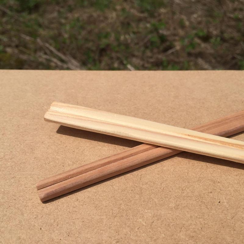 元禄箸 白・茶(混)21cm 100膳(1膳10円)