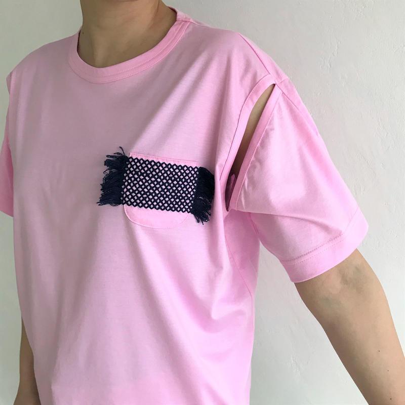 【zaziquo】stitch on pocket tops(PINK)