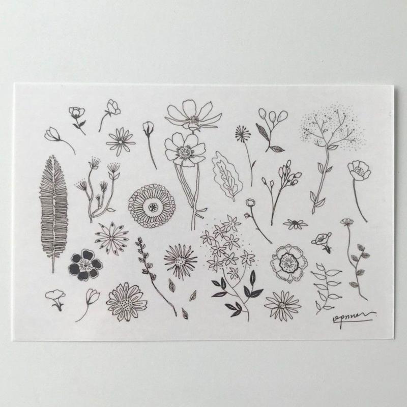 "【opnner】タトゥーシール  ""flower garden"""