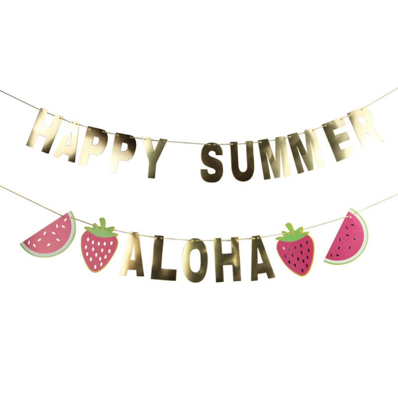 【メール便】【アロハ】誕生日・フラパーティー・名入れできるDIYバナー作成キット