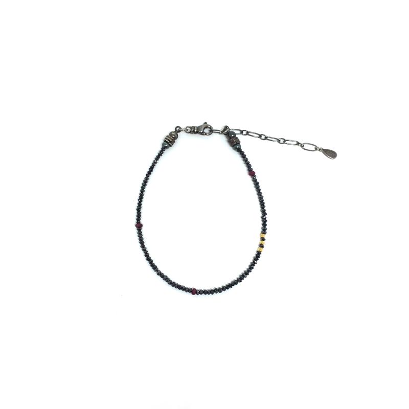 gunda<ガンダ >GALAXY BRACELET/Black Diamond[ ギャラクシー ブレスレット/ブラックダイアモンド]