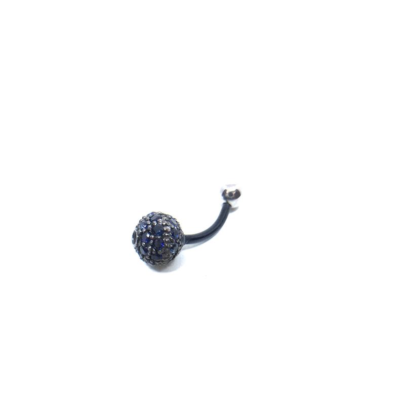 gunda<ガンダ >MIRROR BOWL BODYPIERCE/Sapphire[ミラーボール ボディーピアス/サファイア]