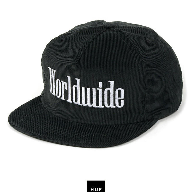 "Huf ""WORLDWIDE SNAPBACK"" (BLACK )"