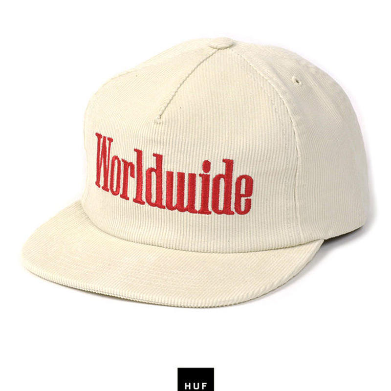 "Huf ""WORLDWIDE SNAPBACK"" (WHITE )"