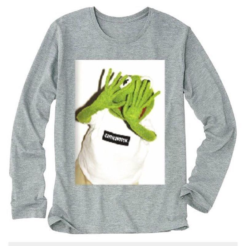 gurirubooth©️ Kermit    L / S  (Gray )
