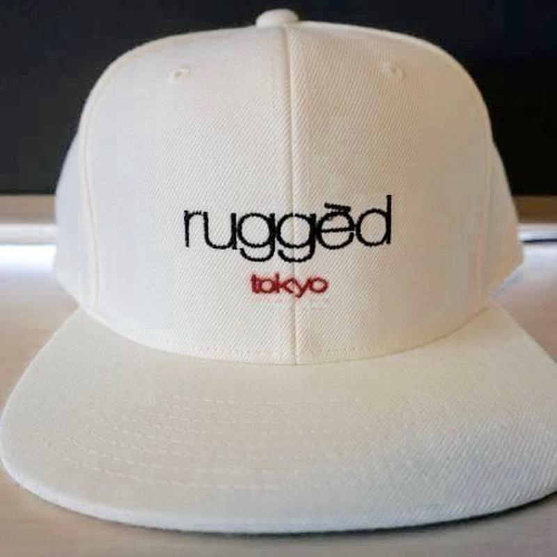 RUGGED ''rugged tokyo'' snap back (White)