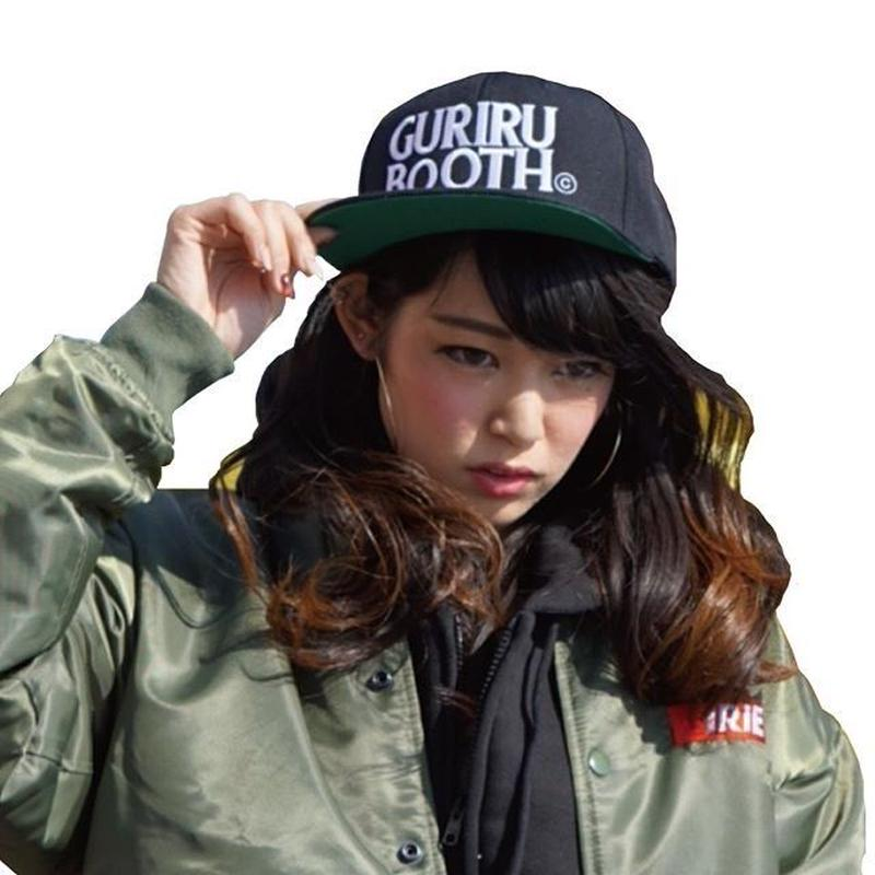 "GURIRUBOOTH© ""LOGO"" snap back (Black)"
