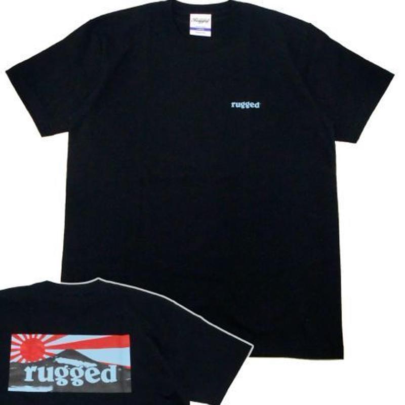 "RUGGED ""RISING SUN"" tee(Black×Navy)"