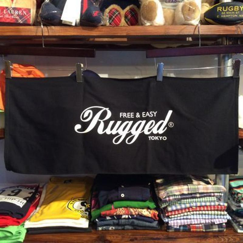 RUGGED® Logo face towel(Black×White)