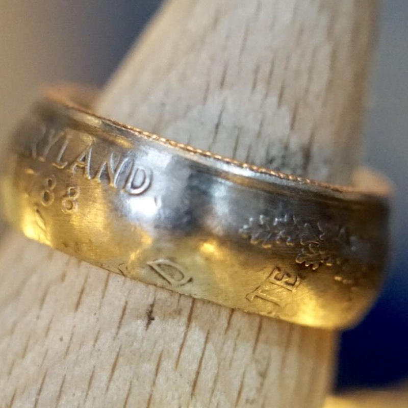 coin ring (Maryland州 25セント)