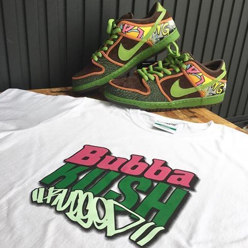 "RUGGED green label ""Bubba KUSH "" highgrade tee (White)"