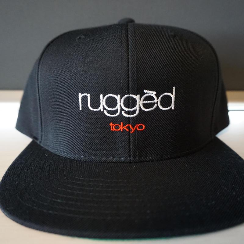 RUGGED ''rugged tokyo'' snap back (Black)