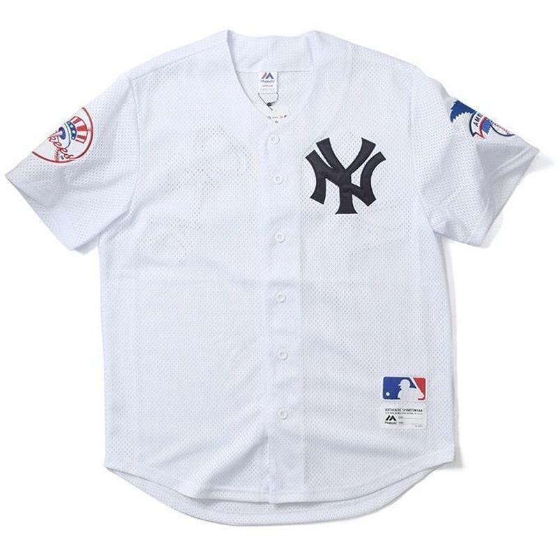 Majestic Athletic NEWYORK YANKEES Baseball Shirts (White)