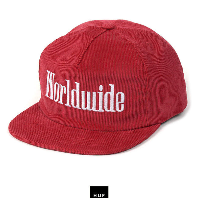 "Huf ""WORLDWIDE SNAPBACK"" (RED)"