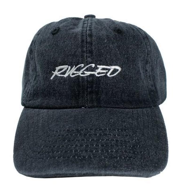 "RUGGED ""RACING LOGO"" adjuster cap (Black Denim)"