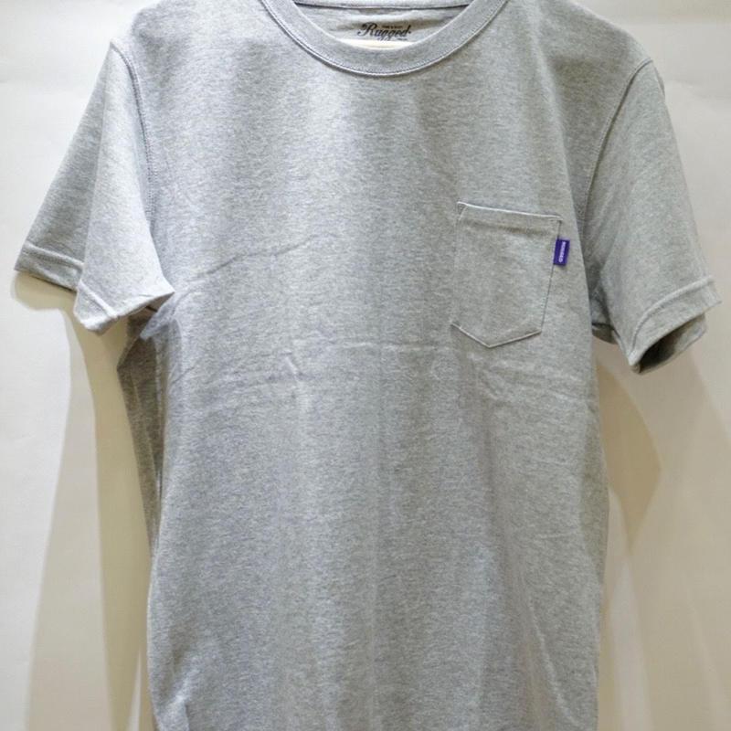 RUGGED high grade cotton pocket tee (Gray)