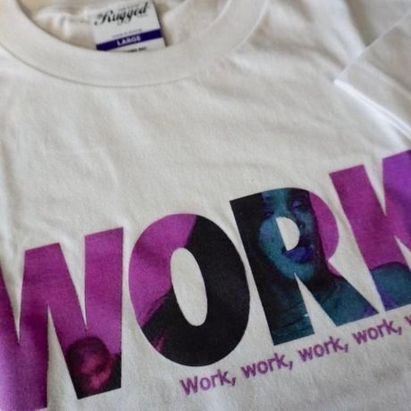 """RUGGED    """"work"""" tee White"""
