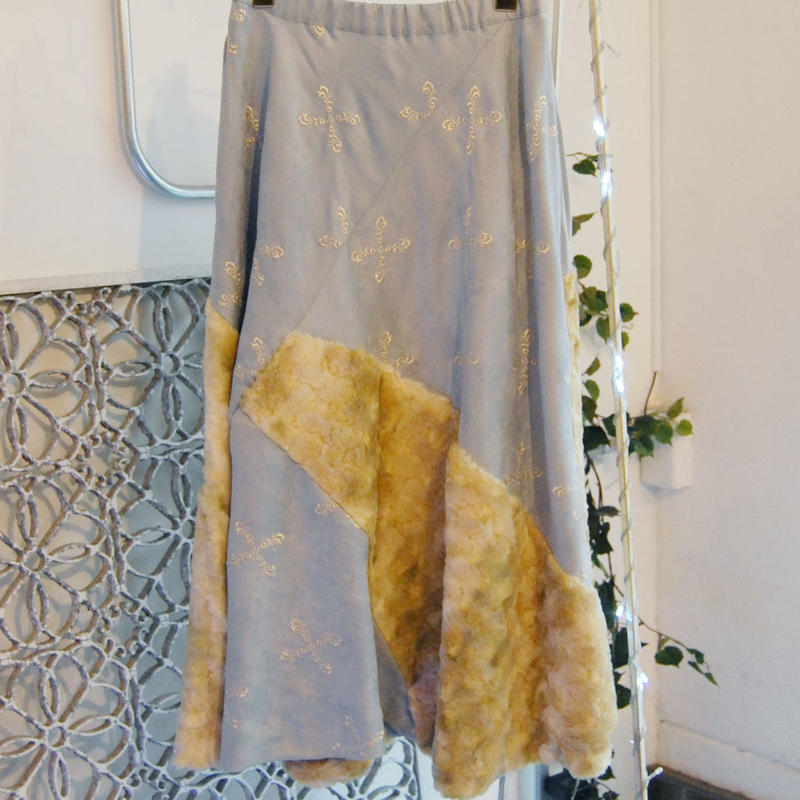 SHIROMA 17-18A/W Female punks embroidery long skirt
