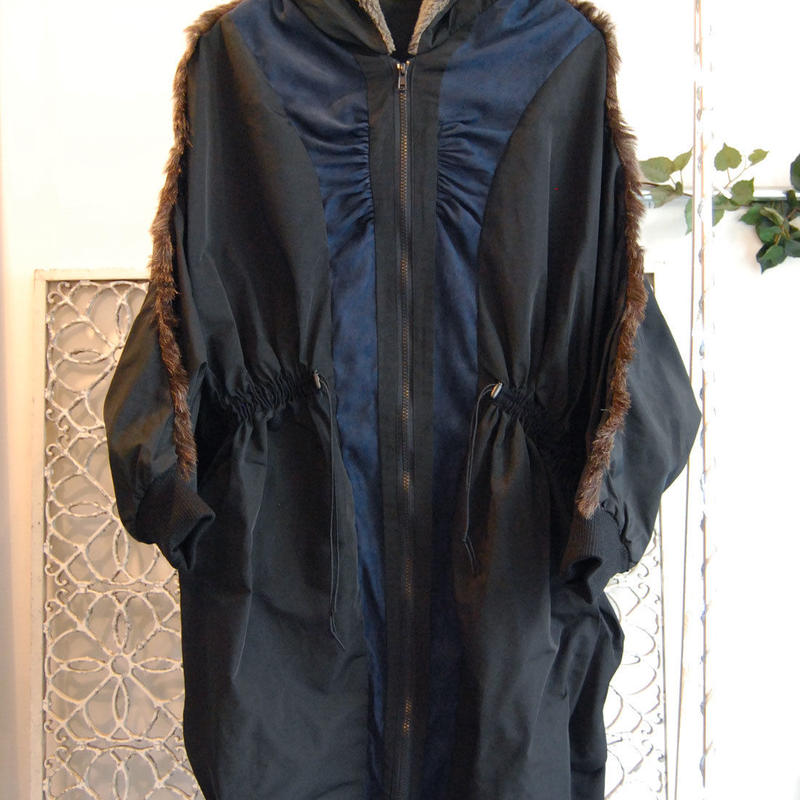 SHIROMA 16-17A/W DARK AGES gather mods coat -black-