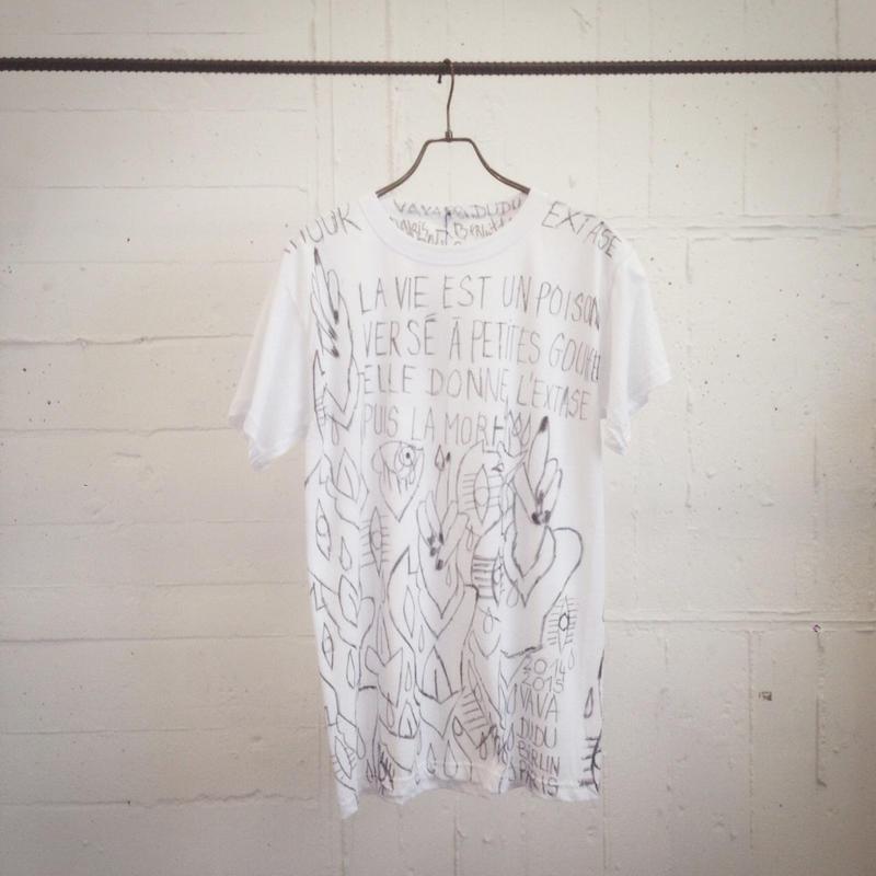 50%OFF!!!VAVADUDU hand drawing autograph T-shirt 【3】