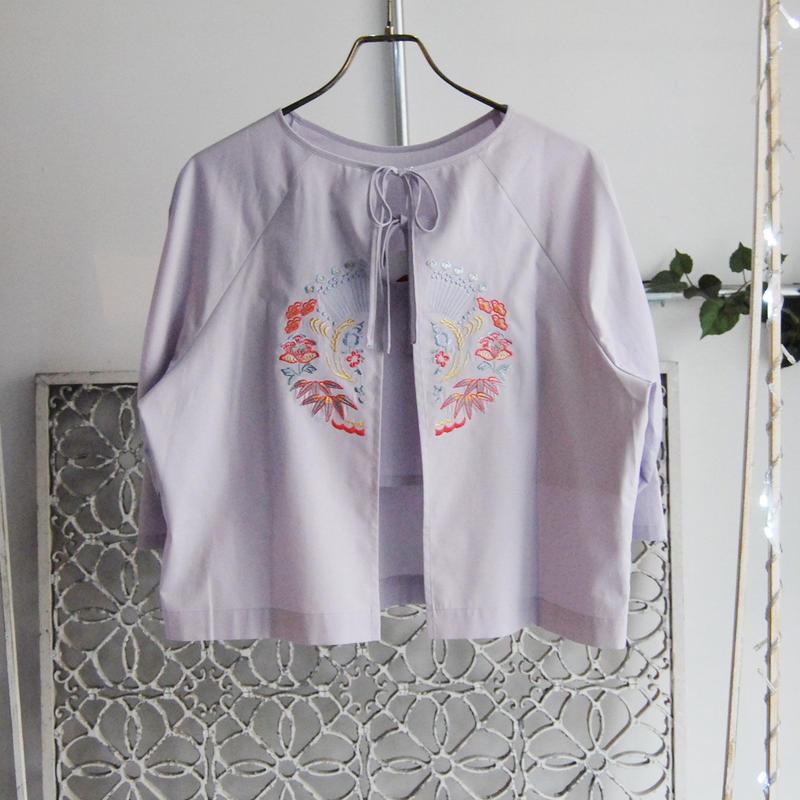BANSAN inaho motif embroidery cotton blouse