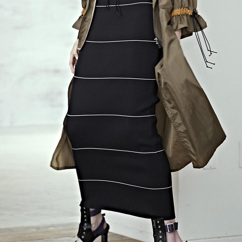 SHIROMA 19S/S rib knit skirt
