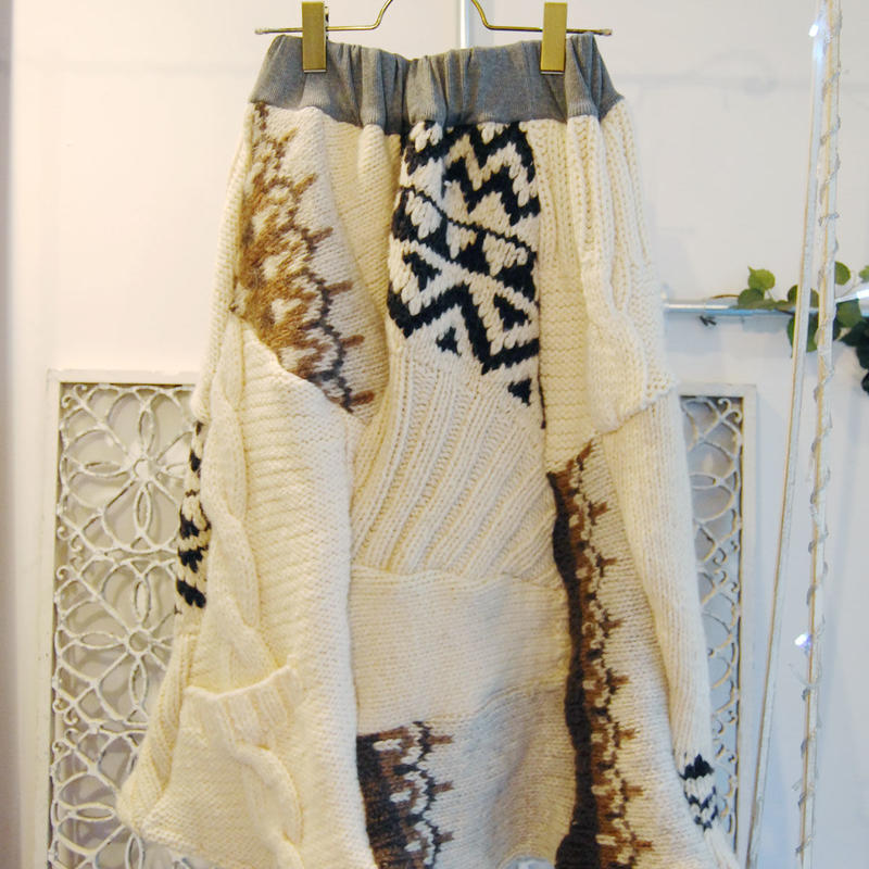Yan na Maury mix knit skirt 【2】