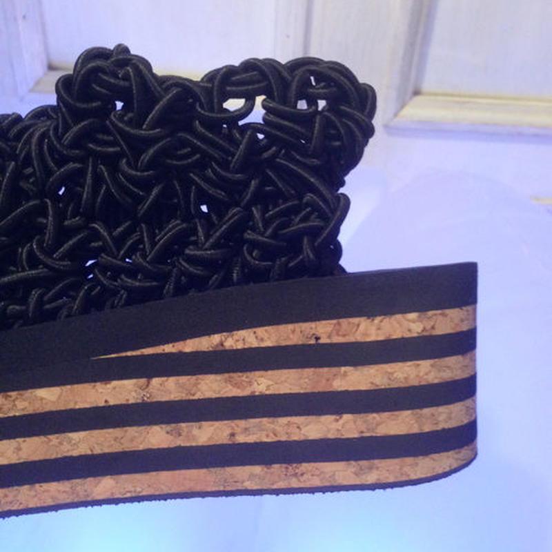 ARIELLE DE PINTO / LVMM stripey sock -black-