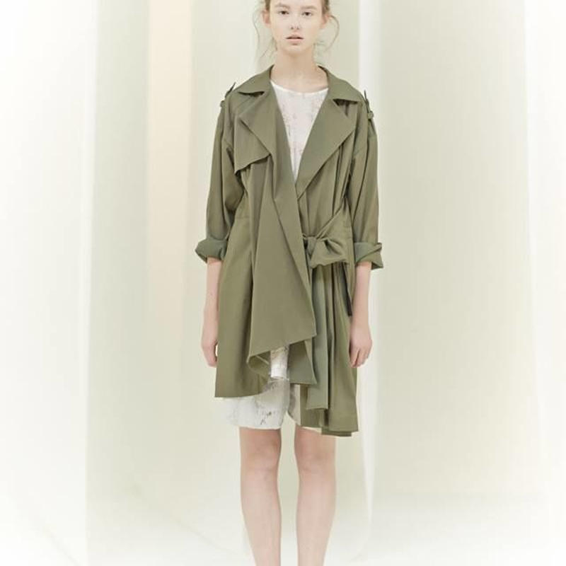 SHIROMA 16S/S chase the unknown trench coat -khaki /pink beige /black-
