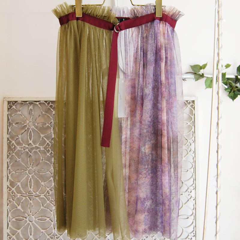 SHIROMA 16S/S chase the unknown wrap skirt -parple-