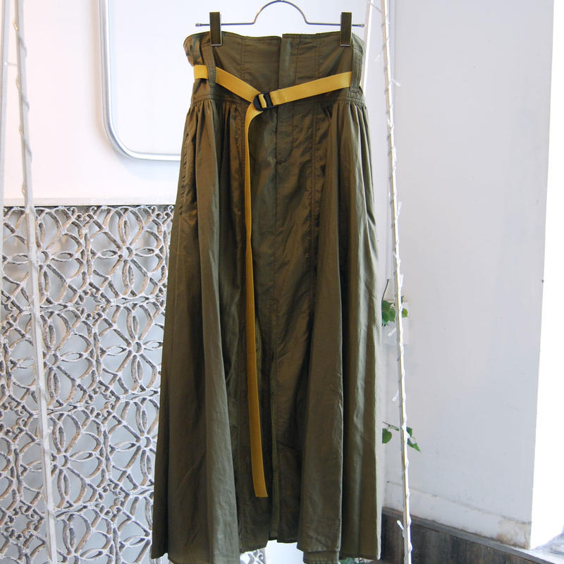 SHIROMA 19S/S high waist gather skirt
