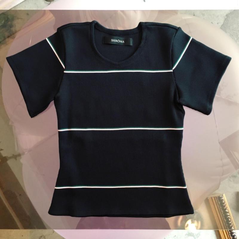 SHIROMA 19S/S rib knit top -just waist-