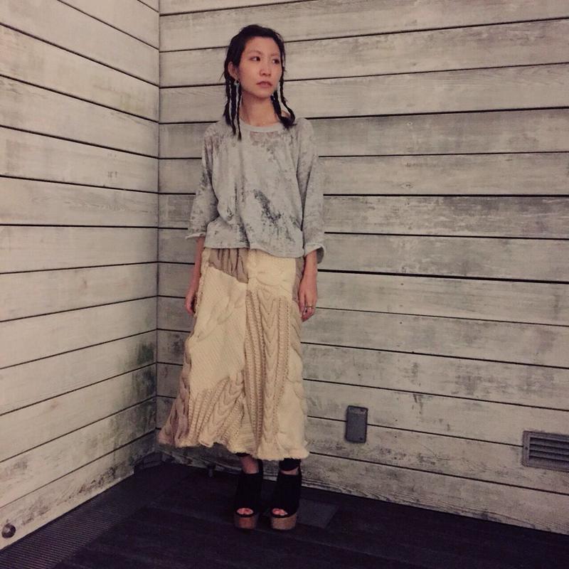Yan na Maury mix knit skirt 【1】