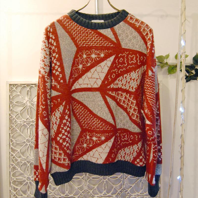 BANSAN sashiko wool sweater